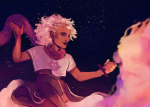 alternate_hair casentine clouds cocktail_glass roxy_lalonde solo stars