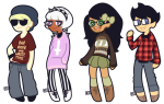 beta_kids casual crossover dave_strider dootsyblue fashion gainax jade_harley john_egbert panty_and_stocking rose_lalonde