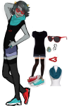 artist-in-training fashion solo terezi_pyrope