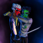 asenath23 dirk_strider gasmask jake_english pistols pumpkin_patch shipping unbreakable_katana