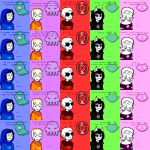 beta_kids breath_aspect dave_strider dogtier foxy_kittyknit_dress godtier heir image_manipulation jade_harley john_egbert kid_symbol knight light_aspect nikkin1234 rose_lalonde roxy_lalonde seer space_aspect talksprite time_aspect valentinestuck witch