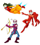 bow brigriv crossover dave_strider iron_lass_suit jade_harley marvel rose_lalonde the_avengers