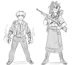 bioshock crossover fashion hunting_rifle jade_harley paperseverywhere rose_lalonde sketch