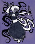 black_squiddle_dress grimdark rose_lalonde sketchoodles solo thorns_of_oglogoth