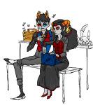aradia_megido au bees computer hemostuck pixel request roachpatrol sitting skulls sollux_captor