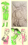 ancestors art_dump artaline bq fashion formal her_imperious_condescension holding_hands humanized roxy_lalonde sketch snowman whip