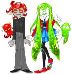 ! 8-xenon-8 alternate_hair animalstuck crossover dress_of_eclectica jade_harley karkat_vantas splatoon squiddlejacket squiddlesneaks