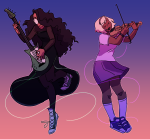 3_in_the_morning_dress instrument jade_harley lime-time mauve_squiddle_shirt rose_lalonde