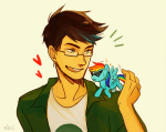 crossover dirk_strider heart jake_english my_little_pony ponified rainbow_dash size_difference sleiin starter_outfit