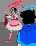 blush cake crossdressing dave_strider godtier heir john_egbert karkat_vantas knight tacitpact thumbs_up word_balloon