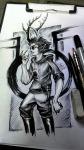 dammek grayscale hiveswap kickstarter lineart mengelexemplar sketch solo