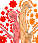 back_to_back bro dave_strider gears katana lil_cal limited_palette starter_outfit turtle-demon unbreakable_katana
