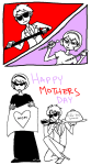 arijandro black_squiddle_dress comic dave_strider heart holidaystuck katana puppet_tux rose_lalonde siblings:daverose thorns_of_oglogoth
