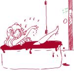 aradia_megido bathing blood blush corpse_party kanaya_maryam music_note shipping sleepiestnimbus