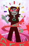 blindfold blood chalk dragon_cane noose scalemates solo terezi_pyrope trickstercarlos troll_caegar_coin