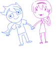 citrinne date_dress godtier heir holding_hands john_egbert limited_palette lineart rose_lalonde sketch