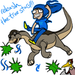 anonymous_artist aspect_symbol breath_aspect crossover dinosaurs godtier heir john_egbert the_land_before_time the_windy_thing this_is_stupid