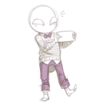 casual clover dogrot fashion felt grabbyhaands moved_source no_hat sketch solo