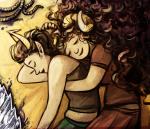 aradia_megido chamlis corpse_party hug kanaya_maryam redrom shipping sleeping
