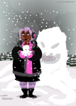 casual chubstuck fashion horrorterrors kdangerinspace rose's_pink_scarf rose_lalonde solo winter