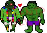 cairo_overcoat crossover heart holding_hands lord_english mangosgonewild marvel redrom shipping the_hulk