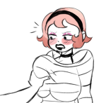 anonymous_artist blush head_out_of_frame rose_lalonde solo
