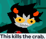 anonymous_artist blood image_manipulation karkat_vantas land_of_frost_and_frogs meme reaction solo trees
