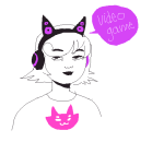 au headphones lil_hal roxy_lalonde rule63 starship-one word_balloon