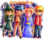 beta_kids circa cosplay crossover dave_strider ghostbusters halloweenstuck jade_harley john_egbert rose_lalonde