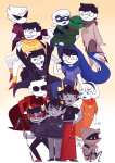 all_kids alpha_kids arms_crossed beta_kids breath_aspect calliope carrying dave_strider dirk_strider dogtier godtier heart_aspect heir hope_aspect hug jade_harley jake_english jane_crocker john_egbert kanaya_maryam karkat_vantas knight life_aspect light_aspect maid mayor_sash ojaiyart page prince ring_of_life rogue rose_lalonde roxy_lalonde seer serenity space_aspect terezi_pyrope time_aspect void_aspect walking_cane wayward_vagabond witch wv