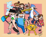 adventure_time cellyarts crossover gravity_falls harlequinsprite john_egbert regular_show source_needed sourcing_attempted sprite warhammer_of_zillyhoo