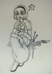 bifocalcurious black_squiddle_dress book heart jaspers knitting_needles rose_lalonde word_balloon yarn