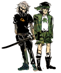 bardofgrope crossover dirk_strider jake_english metal_gear_solid starter_outfit unbreakable_katana