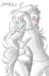 blush feferi_peixes grayscale highlight_color hug impossible-pie maritime_law no_glasses redrom request shipping terezi_pyrope