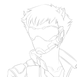 crossover deleted_source headshot lineart loki overwatch sollux_captor solo