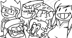 cats crossover food game_grumps gastrictank john_egbert legend_of_korra lineart meme nintendo pokémon