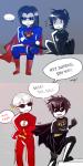 batman boukens crossover dave_strider dc equius_zahhak humanized karkat_vantas nepeta_leijon superman