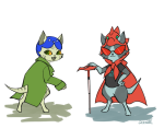 animalstuck crossover dragon_cape dragonhead_cane monster_hunter nepeta_leijon q-dormir terezi_pyrope
