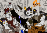 ahab's_crosshairs alcohol crossdressing crossover eridan_ampora multiple_personas skellyanon solo unknown_crossover