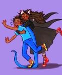 breath_aspect dogtier godtier heir jade_harley john_egbert reverse_hug siblings:johnjade space_aspect visimoth witch