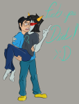 bluesclues john_egbert kiss redrom shipping terezi_pyrope text thatlldoodles the_finger