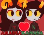 aradia_megido corpse_party eridanusaquarius heart kanaya_maryam redrom shipping