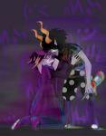 blackrom blood deuce_clubs eridan_ampora gamzee_makara kiss seaweed shipping vanityelric