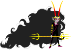 ancestors hairterror her_imperious_condescension imperial_trident mydeardream solo sprite_mode transparent weapon