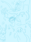 adventure_time art_dump happy_tree_friends monochrome powerpuff_girls sollux_captor superjail! the_marvelous_misadventures_of_flapjack wire
