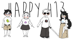 413 beta_kids blush calgoat claw_hammer dave_strider hunting_rifle jade_harley john_egbert katana knitting_needles rose_lalonde starter_outfit
