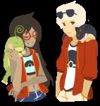 crossover dave_strider freckles jade_harley nintendo pokémon ray request