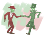 crowbar dancing die felt holding_hands redrom request scribblestuck-tata sexty-seven shipping suit