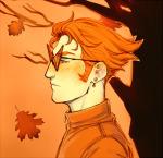 alinajames autumn body_modification dirk_strider freckles headshot profile solo trees