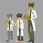 ancestors aquariumstuck au beverage captors dancestors humanized mituna_captor salihombox sollux_captor the_psiioniic
